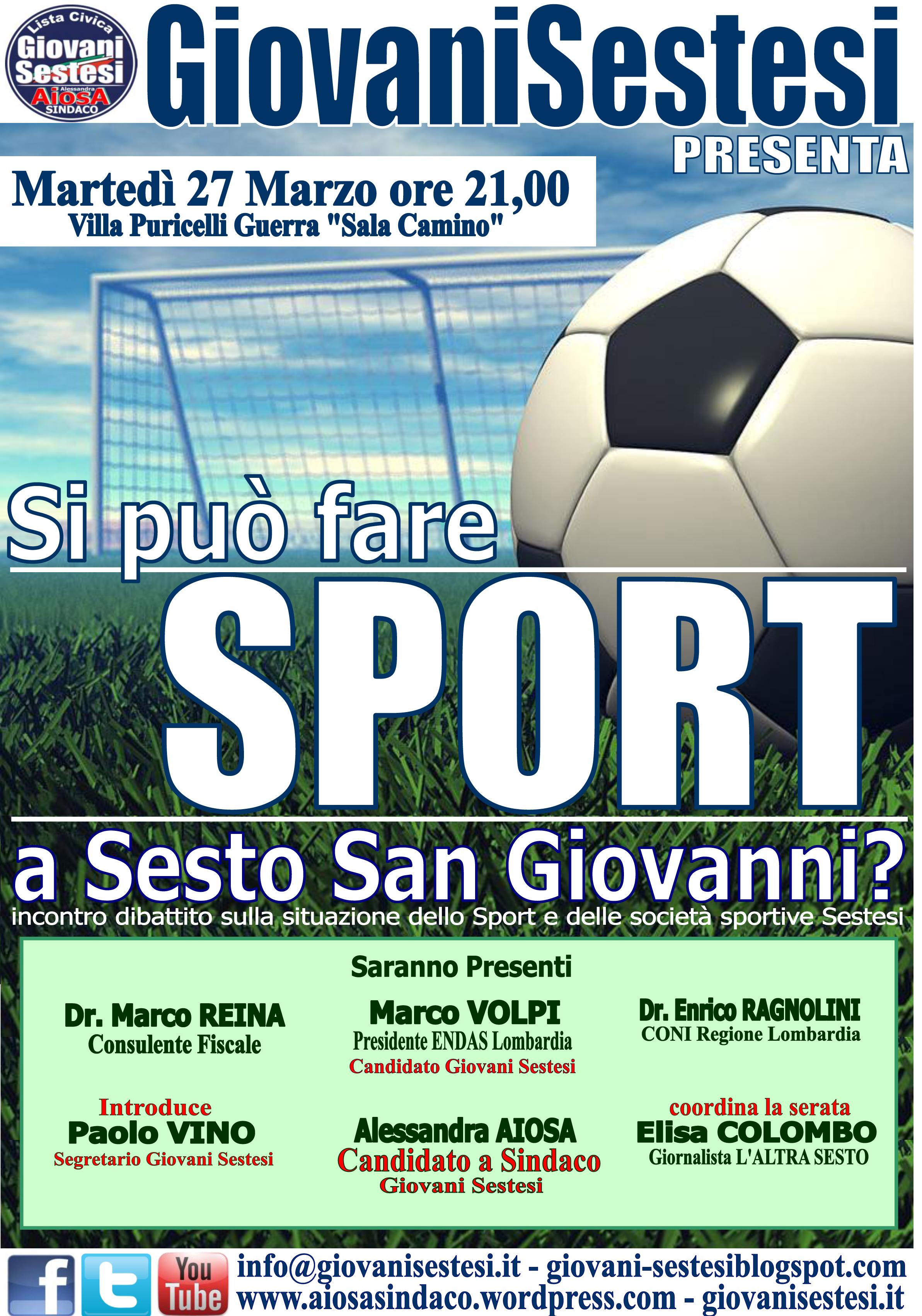 Sesto dibattito sullo sport e gestione delle strutture for Villa puricelli