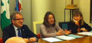 Da sinistra Roberto Maroni, Beatrice Lorenzin e Monica Chittò